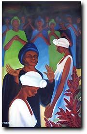 Bernard Hoyes painting - Blessed Gift