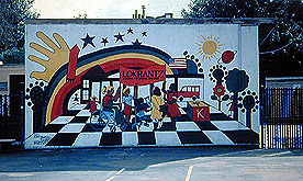 Bernard Hoyes Mural, Lokrantz a School for Special Children