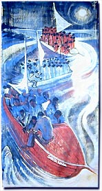 Haitian Boat People, by Bernard Hoyes