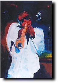 Tenor Sax -Original Art work by Bernard Hoyes